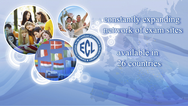 You can take an ECL language exam in 26 countries in Europe and two countries overseas (Argentina, United States).